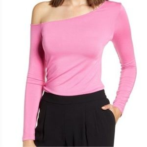 Halogen One Shoulder Long Sleeve Tee